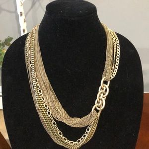 Jcrew  gold tone multi strand link necklace
